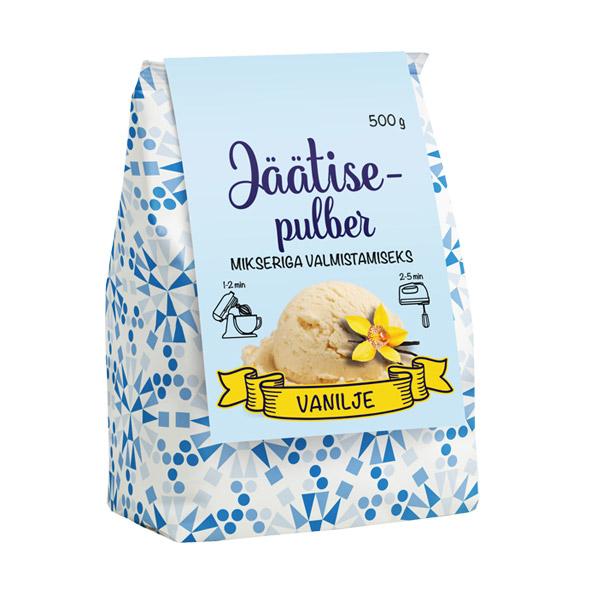 Kodu jäätisepulber vanilje, 500 g